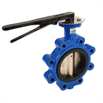 Fully Lugged Butterfly Valve Ductile Iron WRAS PN16 - 4""