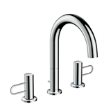 AXOR Uno 3-hole basin mixer 160 with loop handles and pop-up waste set 38054000
