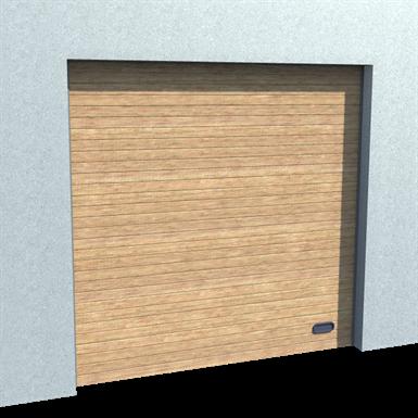 industrial grooved door golden oak normal and high lift