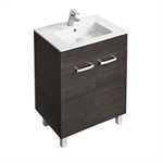 tempo 600mm vanity unit with 2 doors and legs
