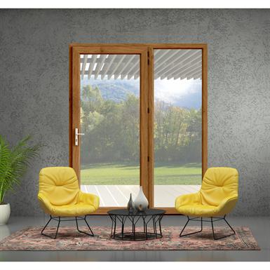 single french door - block frame installation - in'alpha 80 - pf1