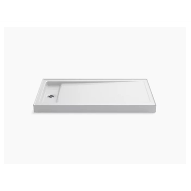 """Bellwether® 60"""" x 32"""" single-threshold shower base with left center drain"""