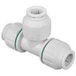 Polybutylene Push-Fit Equal Tee - 15, 22, 28mm - 36048, 36049, 36050