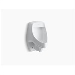 dexter® siphon-jet wall-mount 0.5 or 1.0 gpf urinal with rear spud, antimicrobial