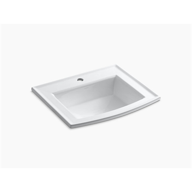k-2356-1 archer® drop-in bathroom sink with single faucet hole