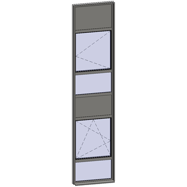 vertical strip windows - 6 zones