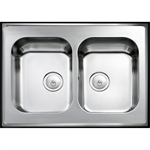 INTRA Atlantic kitchen sink H 08R incl plugs & water trap