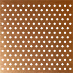 Perforated copper plate