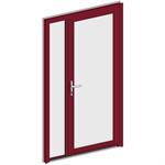 porte d'entrée collection clarté - 2 vantaux tiercés