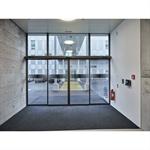 sliding door st flex green double panel