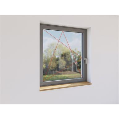 fenêtre frappe 1 vantail aluminium
