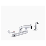 "Triton® Bowe® 1.5 gpm kitchen sink faucet with 8-3/16"" swing spout, matching finish sidespray, aerated flow and wristblade handles"