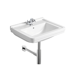 Set Noble Wash-basin + Grecia Tap fittings + Arq Bottle waste trap