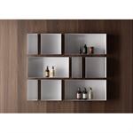coloured frameless wall niche - c-box