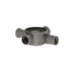 """kessel drain body """"the superflat"""" 42703 lateral outlet ø50, three inlets ø40"""