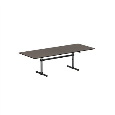 Height adjustable meeting table 2500x1000 mm