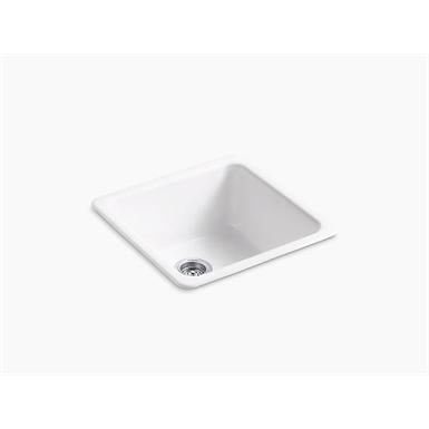 """iron/tones® 20-7/8"""" x 20-7/8"""" x 10"""" top-mount/undermount single-bowl kitchen sink"""