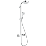 Crometta Showerpipe 160 1jet EcoSmart 9 l/min with thermostat 27265400