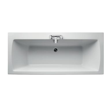 tempo arc idealform double ended bath 170x75cm no handgrips no tapholes