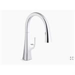 graze® kitchen sink faucet with kohler® konnect™ and voice-activated technology