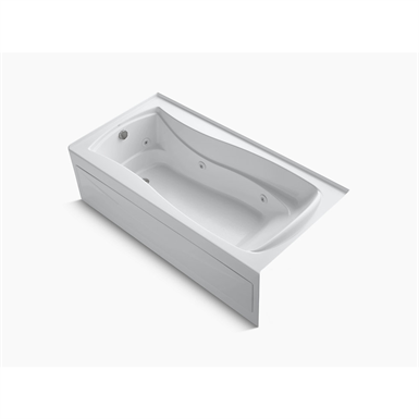"""k-1257-la-0 mariposa® 72"""" x 36"""" alcove whirlpool with integral apron, integral flange and left-hand drain"""