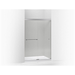 """revel® sliding shower door, 76""""h x 44-5/8 – 47-5/8""""w, with 5/16"""" thick crystal clear glass"""