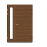 Exterior Door Function F2090+AL1200 W69 Veneered Double Unequal