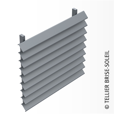 sun shade with clip-on blades for vertical installation - canicule range