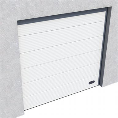 industrial micro grooved door ral 9010 normal and high lift