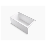 """underscore® 60"""" x 30"""" alcove bath with integral apron, integral flange, and right-hand drain"""
