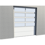 Industrial Glazed Panel Door 02 Vertical Lift