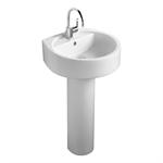 white 50cm washbasin, 1 taphole