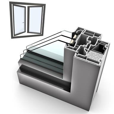 window double upvc-alu internorm kf410 5