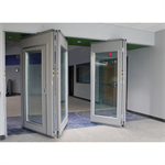 3030GL – Operable Wall - Hinged Pairs-with Glass Insert