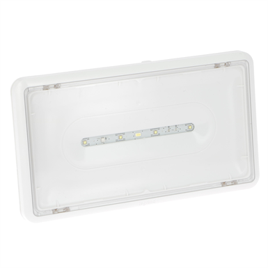 Central source emergency lighting luminaire