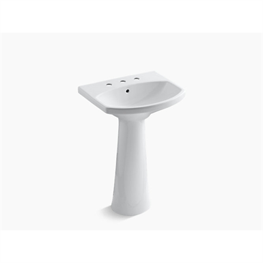 """cimarron® pedestal bathroom sink with 8"""" widespread faucet holes"""