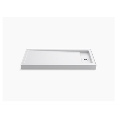"""Bellwether® 60"""" x 32"""" single-threshold shower base with right center drain"""