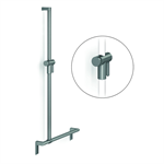 Cavere Shower handrail with shower head rail, movable, 600 x 1200