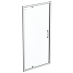 connect 2 pivot door 100 clear glass