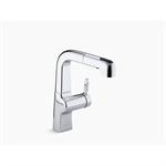 "evoke® single-hole bar sink faucet with 8"" pull-out spout"