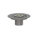kessel-variofix upper section 47901 cover slotted in st. steel, system 100