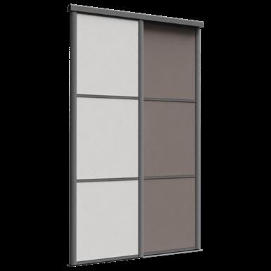 façade reflet 2 portes coulissantes