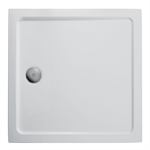 idealite flat top shower tray, 760x760mm & cp waste