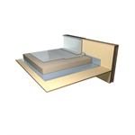 synthetic waterproofing system for inaccessible flat roofs for rainwater recovery