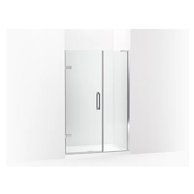 """Components™ Frameless pivot shower door, 71-3/4"""" H x 46 - 46-3/4"""" W, with 3/8"""" thick Crystal Clear glass"""
