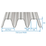 RoofDek D159 (Deep Deck) - Structural decking for roofs