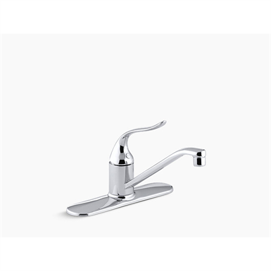 """K-15171 Coralais® Three-hole kitchen sink faucet with 8-1/2"""" spout and lever handle"""