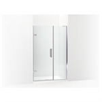 """composed® frameless pivot shower door, 71-3/4"""" h x 45-1/4 - 46"""" w, with 3/8"""" thick crystal clear glass"""