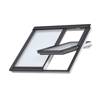 2in1 Top-operated pinewood roof window - Centre-pivot - GGLS