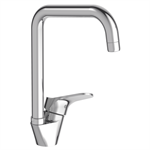 brive - single-lever sink mixer, swivel tube spout  - c3 model  - with water and energy efficient cartridge (lever in center position = cold water)